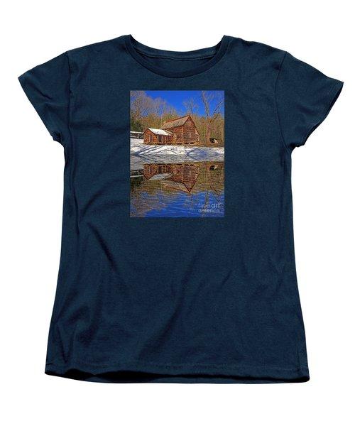 Women's T-Shirt (Standard Cut) featuring the photograph Reflections by Geraldine DeBoer