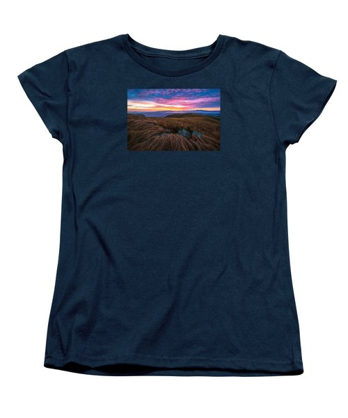 Roan Mountain Sunrise Women's T-Shirt (Standard Cut) by Serge Skiba