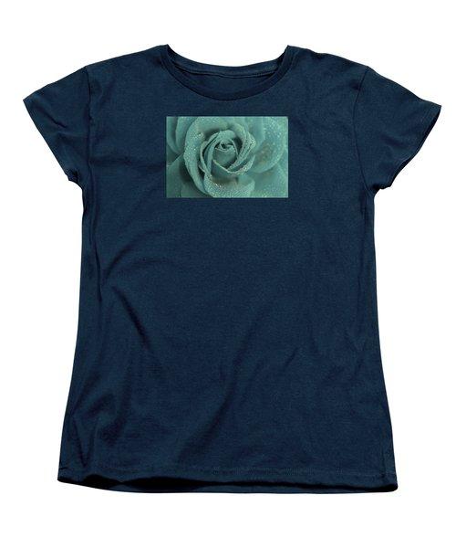 Women's T-Shirt (Standard Cut) featuring the photograph Rose Of Rain by The Art Of Marilyn Ridoutt-Greene