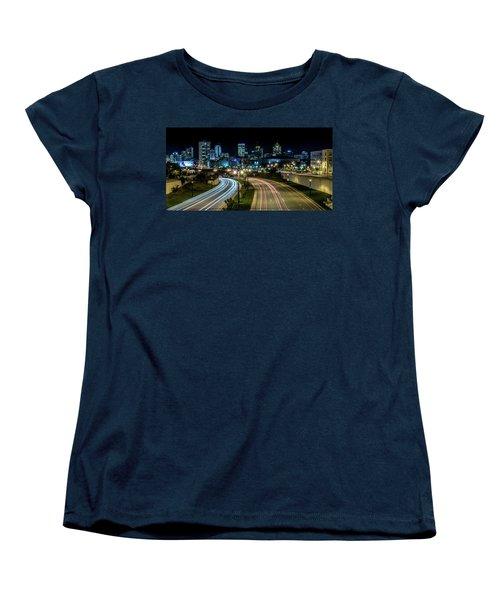 Round The Bend Women's T-Shirt (Standard Cut) by Randy Scherkenbach