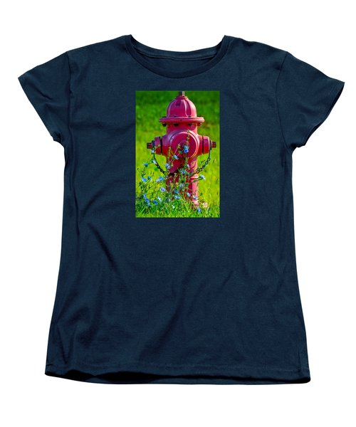 Women's T-Shirt (Standard Cut) featuring the photograph Rustic Red 2 by Brian Stevens