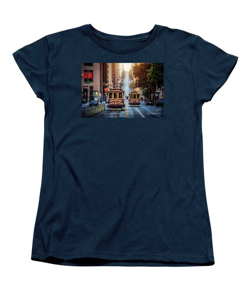 San Francisco Cable Cars Women's T-Shirt (Standard Cut) by JR Photography