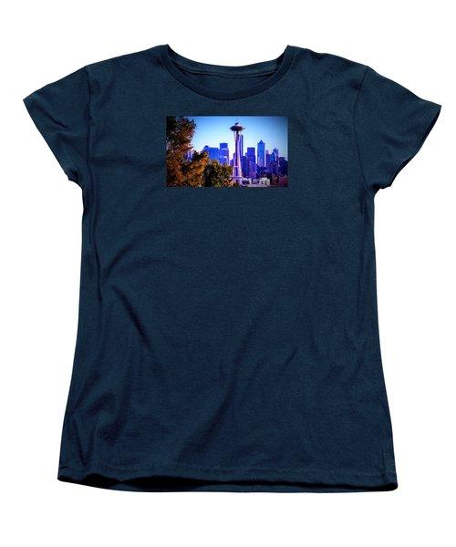 Seattle Afternoon Women's T-Shirt (Standard Cut) by Martin Cline