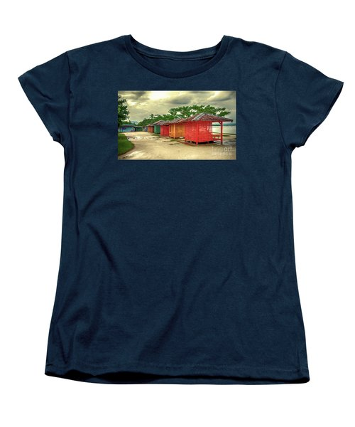 Women's T-Shirt (Standard Cut) featuring the photograph Shacks by Charuhas Images