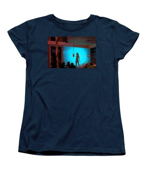 Shadow On The Wall Women's T-Shirt (Standard Cut) by Viktor Savchenko