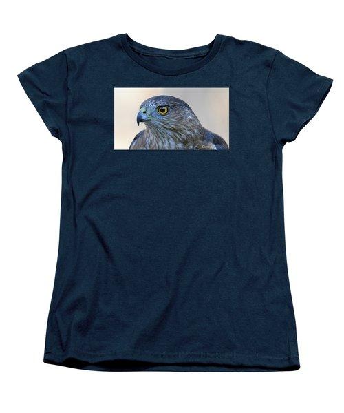 Sharp-shinned Hawk Women's T-Shirt (Standard Cut) by Diane Giurco