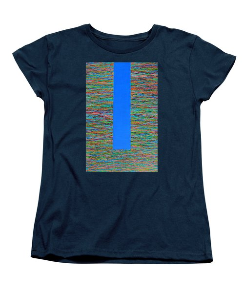 Women's T-Shirt (Standard Cut) featuring the painting Small Door by Kyung Hee Hogg