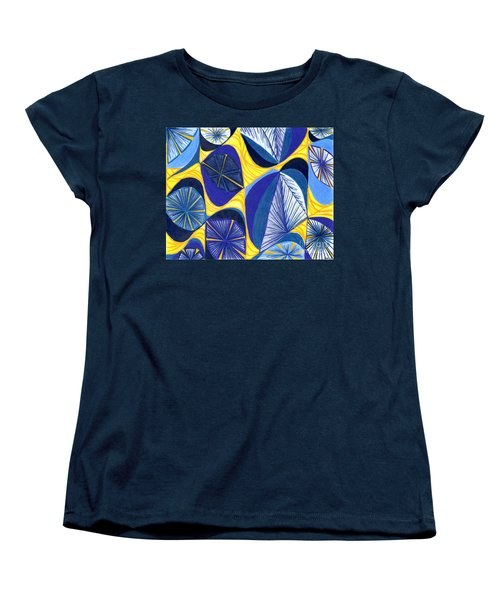 Women's T-Shirt (Standard Cut) featuring the drawing Solar Rays by Kim Sy Ok
