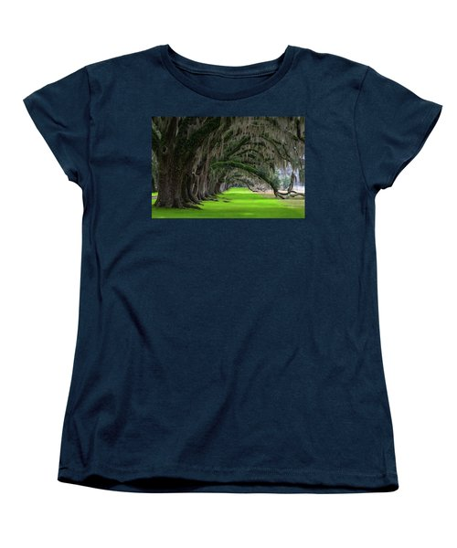 Southern Oaks Women's T-Shirt (Standard Cut) by Serge Skiba