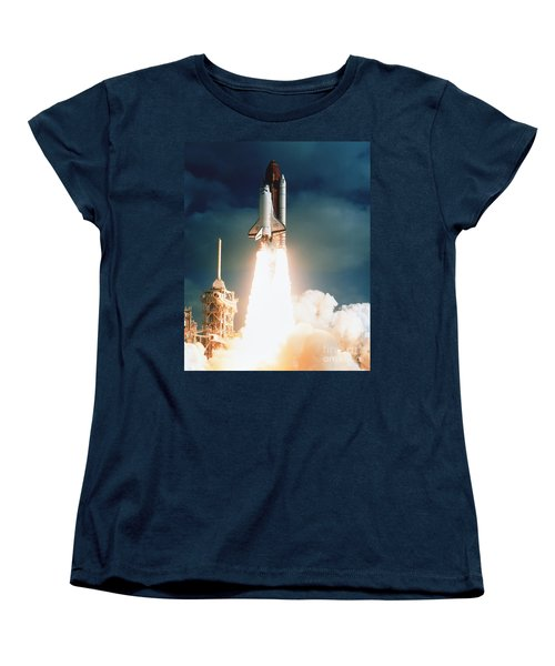 Space Shuttle Launch Women's T-Shirt (Standard Cut) by NASA Science Source