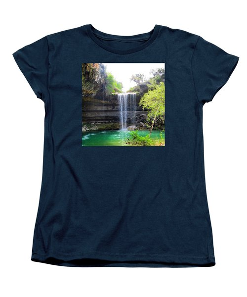 Spent The Day At Hamilton Pool. Yes Women's T-Shirt (Standard Cut) by Austin Tuxedo Cat