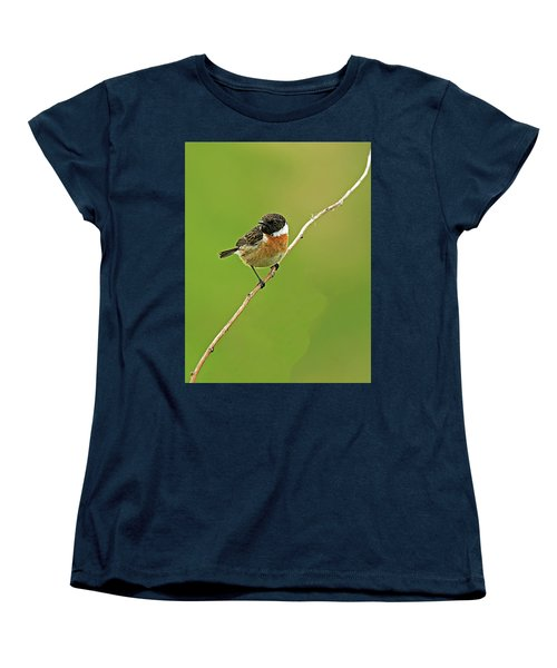 Women's T-Shirt (Standard Cut) featuring the photograph Stonechat by Paul Scoullar