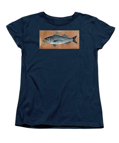 Women's T-Shirt (Standard Cut) featuring the painting Striper by Andrew Drozdowicz