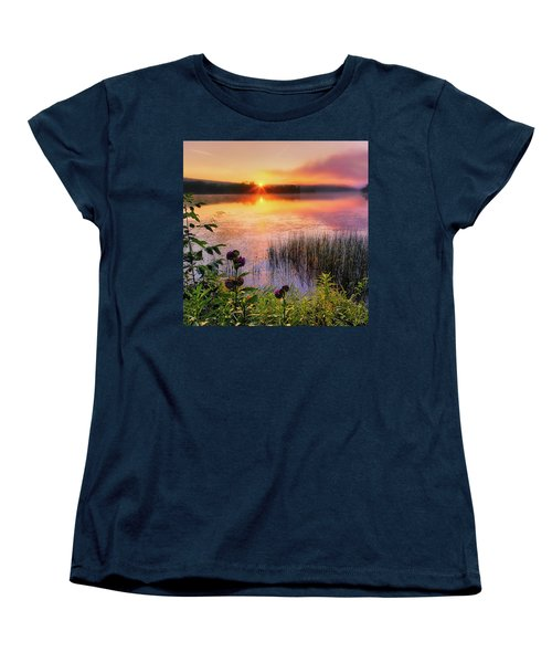 Women's T-Shirt (Standard Cut) featuring the photograph Summer Sunrise Square by Bill Wakeley