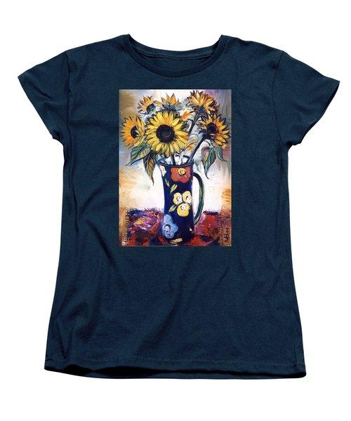 Sunflowers Women's T-Shirt (Standard Cut) by Mikhail Zarovny