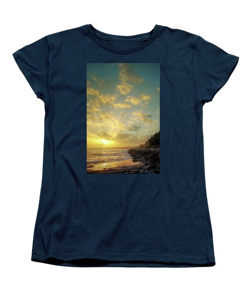 Women's T-Shirt (Standard Cut) featuring the photograph Sunset In The Coast by Carlos Caetano