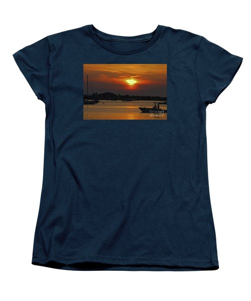 Women's T-Shirt (Standard Cut) featuring the photograph 1- Sunset Over The Intracoastal by Joseph Keane