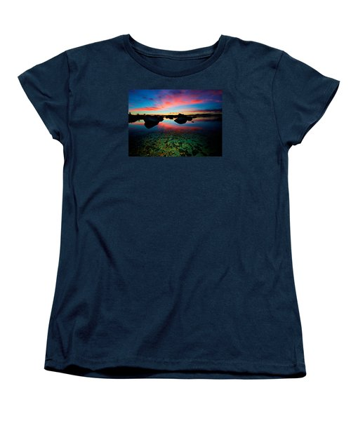 Sunset With A Whale Women's T-Shirt (Standard Cut) by Sean Sarsfield