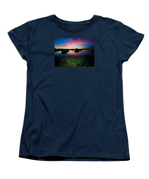 Sunset With A Whale Women's T-Shirt (Standard Cut)