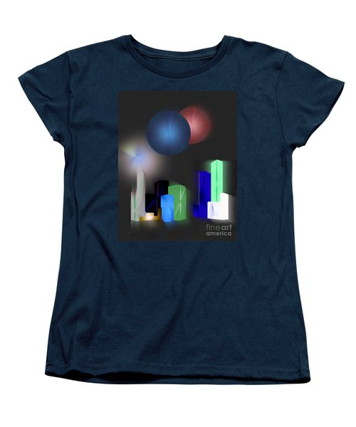Surreal City Women's T-Shirt (Standard Cut) by John Krakora