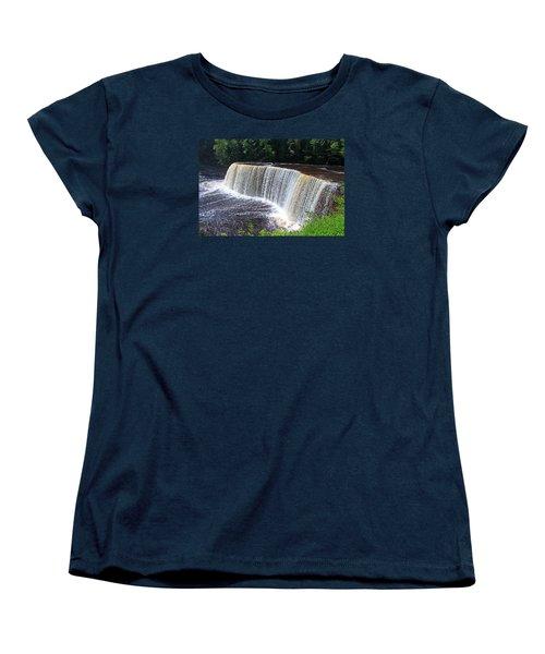 Tahquamenon Upper Falls IIi Women's T-Shirt (Standard Cut) by Michiale Schneider