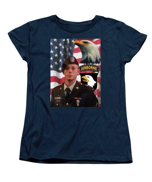 Texas Hero Women's T-Shirt (Standard Cut) by Ken Pridgeon