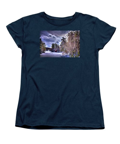 Women's T-Shirt (Standard Cut) featuring the photograph The Beaver Brook Boathouse by David Patterson