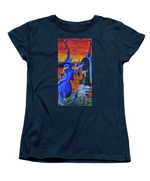The Cat And The Witch Women's T-Shirt (Standard Cut) by Christophe Ennis