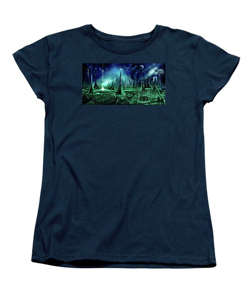 Women's T-Shirt (Standard Cut) featuring the painting The Enneanoveum by James Christopher Hill