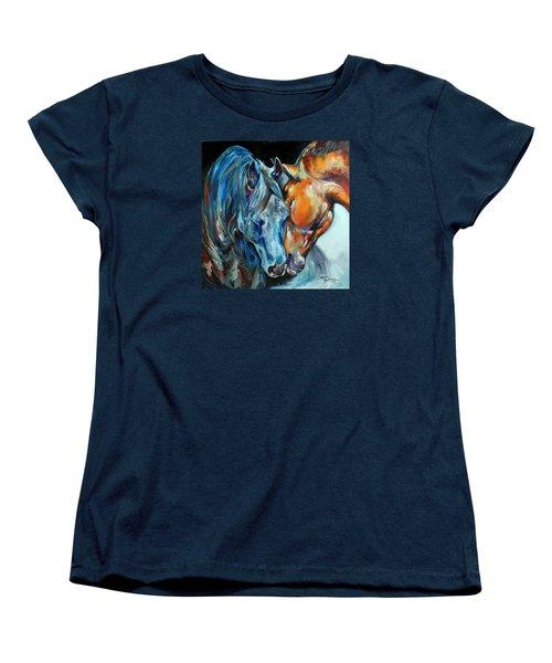 The Meeting  Women's T-Shirt (Standard Cut) by Marcia Baldwin