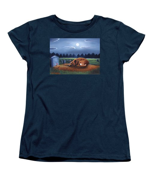 Women's T-Shirt (Standard Cut) featuring the painting The Watchman by Gene Gregory