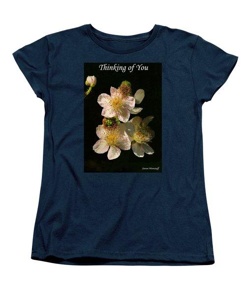 Thinking Of You Women's T-Shirt (Standard Cut) by Steve Warnstaff