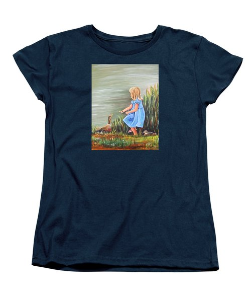 Tori And Her Ducks Women's T-Shirt (Standard Cut) by Patricia Piffath
