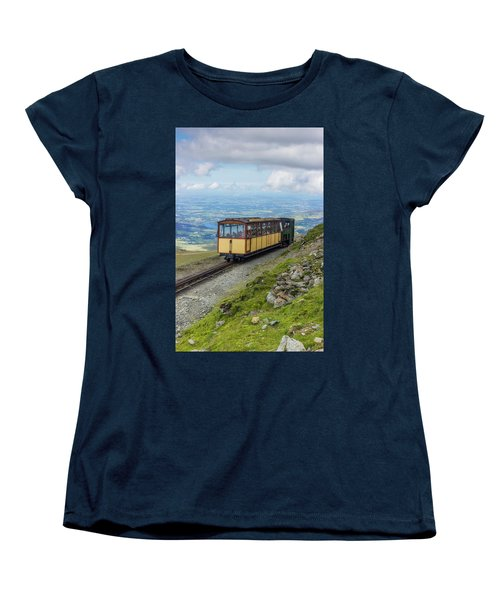 Women's T-Shirt (Standard Cut) featuring the photograph Train To Snowdon by Ian Mitchell