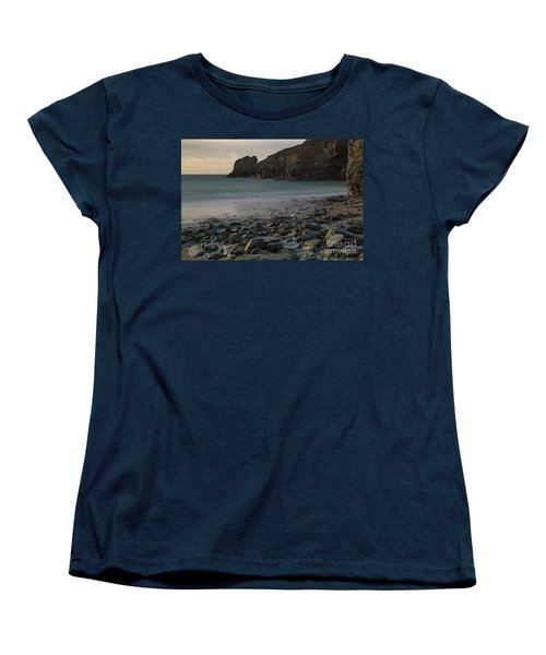 Women's T-Shirt (Standard Cut) featuring the photograph Trevellas Cove by Brian Roscorla