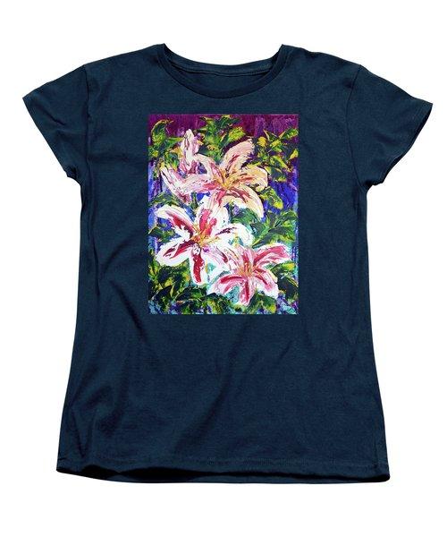 Tropical Flowers Women's T-Shirt (Standard Cut) by Lynda Cookson