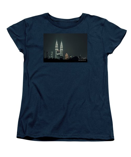 Women's T-Shirt (Standard Cut) featuring the photograph Twin Towers by Charuhas Images