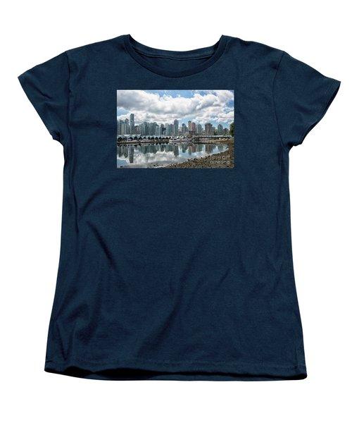 Vancouver Skyline Women's T-Shirt (Standard Cut) by Patricia Hofmeester