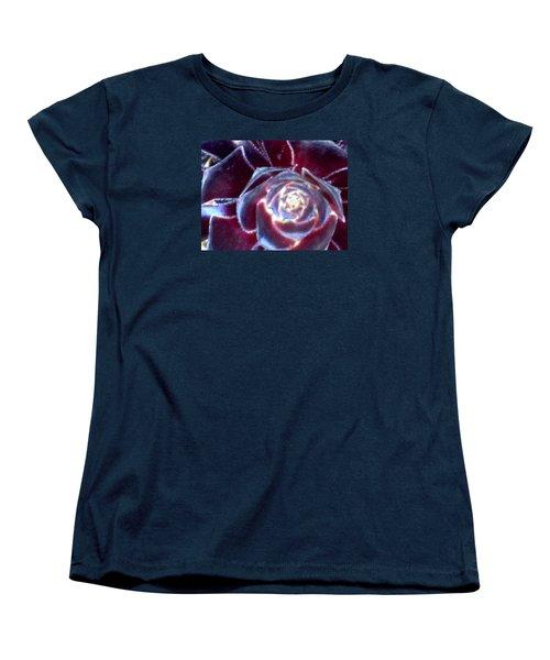 Velvet Rosette Women's T-Shirt (Standard Cut) by Vivien Rhyan