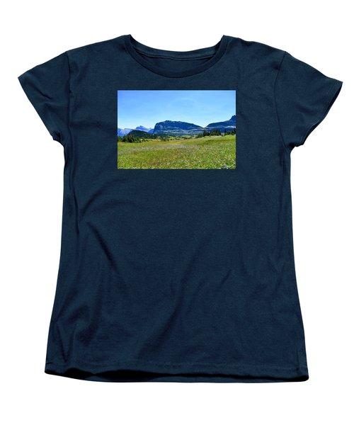 Women's T-Shirt (Standard Cut) featuring the photograph View From Logans Pass by Dacia Doroff