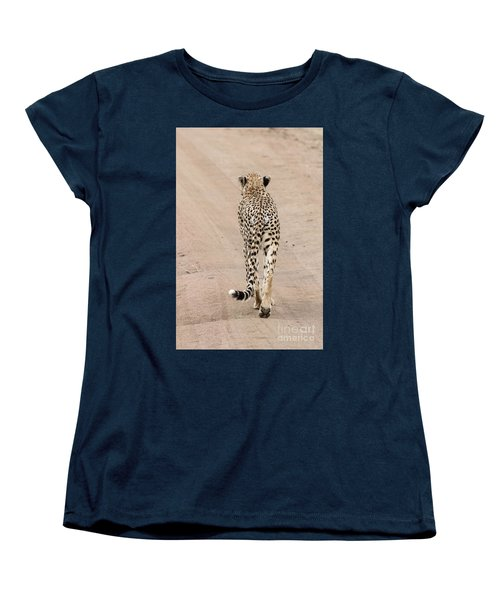 Women's T-Shirt (Standard Cut) featuring the photograph Walking Away by Pravine Chester