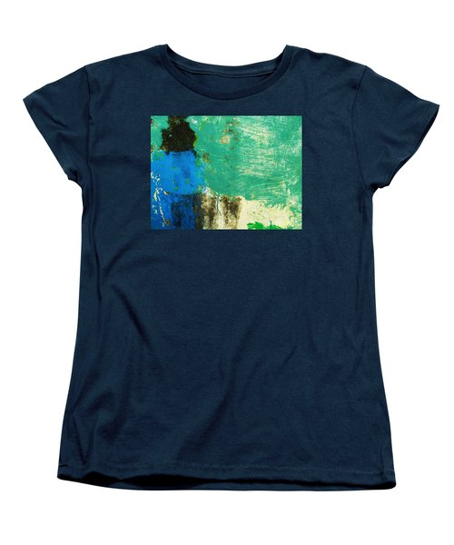 Women's T-Shirt (Standard Cut) featuring the photograph Wall Abstract 70 by Maria Huntley
