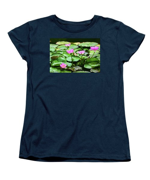 Women's T-Shirt (Standard Cut) featuring the photograph Water Lilies by Anthony Jones