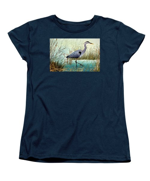 Women's T-Shirt (Standard Cut) featuring the painting Wetland Beauty by James Williamson