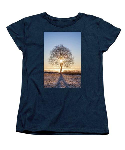 Women's T-Shirt (Standard Cut) featuring the photograph Whaleback Sunrise by Robert Clifford