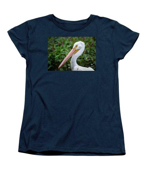 Women's T-Shirt (Standard Cut) featuring the photograph White Pelican by Robert Frederick