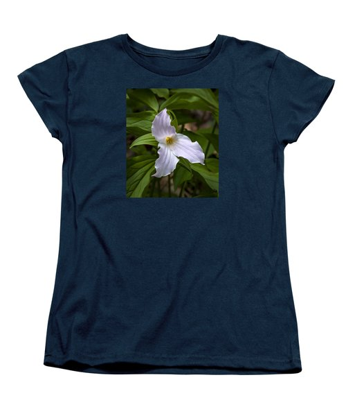 Women's T-Shirt (Standard Cut) featuring the photograph White Trillium by Tyson and Kathy Smith
