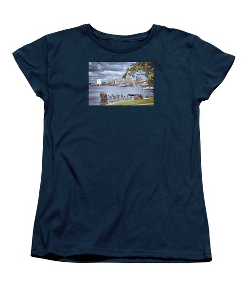 Women's T-Shirt (Standard Cut) featuring the photograph Wilmington Riverfront by Phil Mancuso