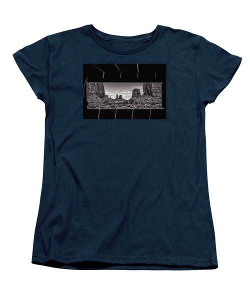 Women's T-Shirt (Standard Cut) featuring the photograph Window Into Monument Valley by Eduard Moldoveanu