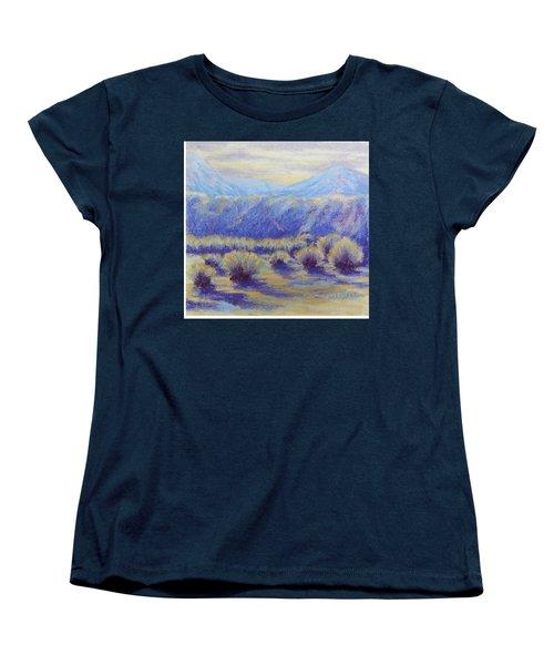 Winter Morning Riverbend Women's T-Shirt (Standard Cut) by Becky Chappell